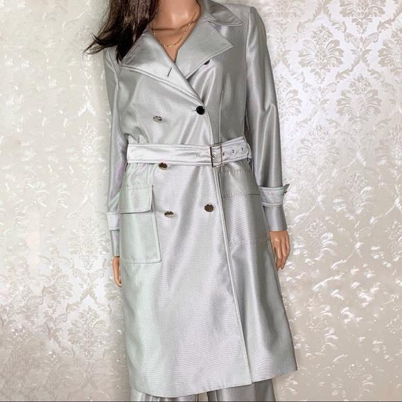 Anne Klein Jackets & Blazers - Anne Klein Bazaar Platinum Trench Coat Pantsuit
